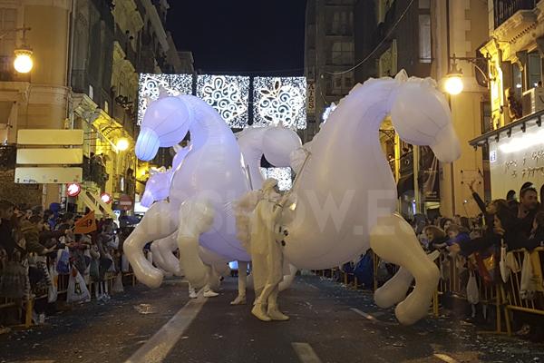 Increible experiencia Cabalgatas de Reyes 2018